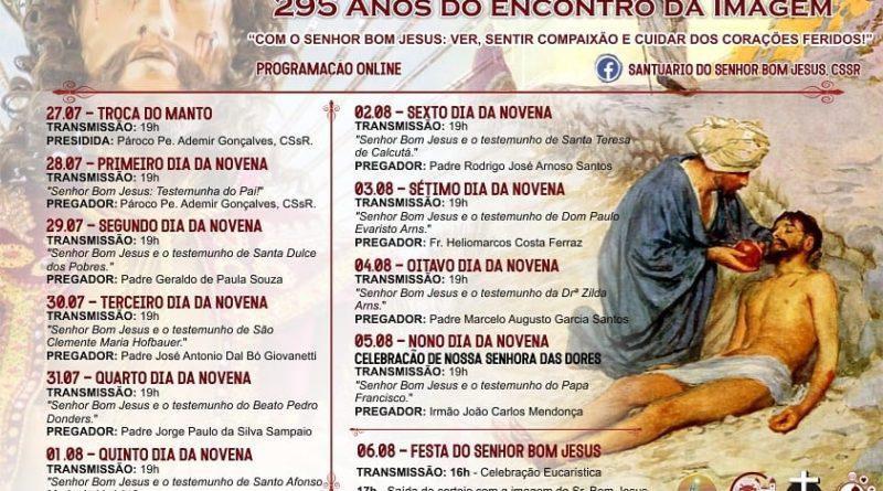 NOVENA ONLINE -2020 – FESTA DO BOM JESUS PELO FACEBOOK